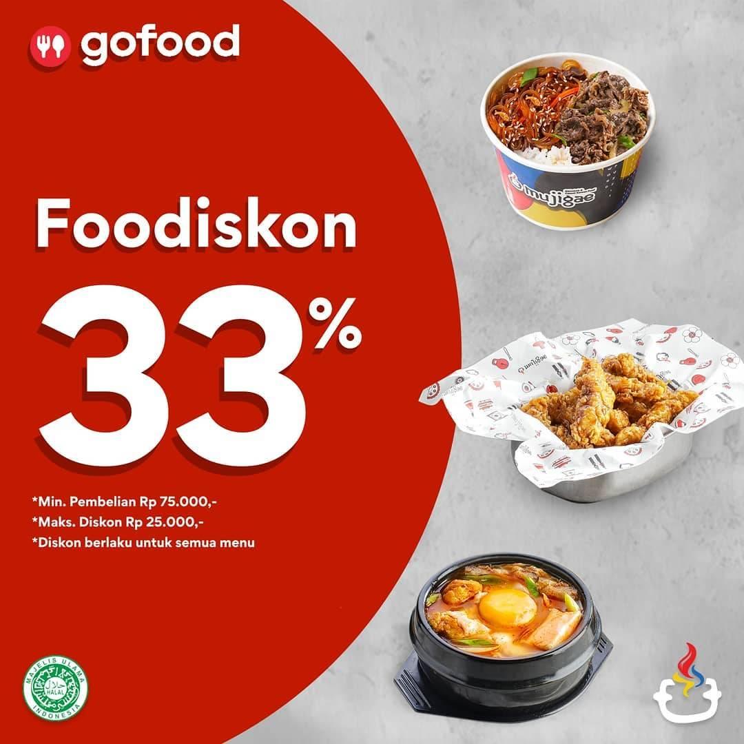Mujigae Promo Gofood Foodiskon Spesial Disqonin