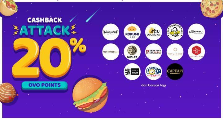 Diskon OVO Promo Cashback Attack Cashback 20%