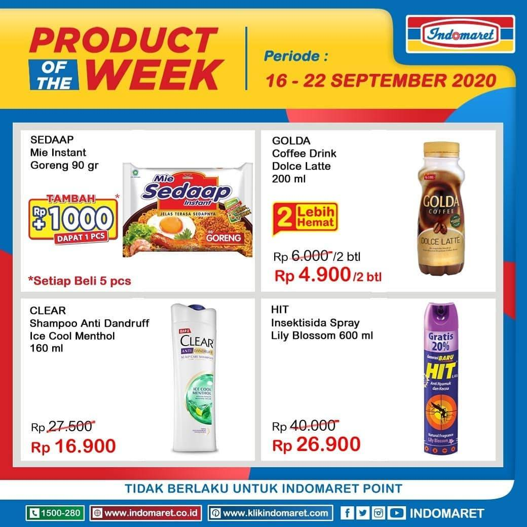 Diskon Katalog Promo Indomaret Product Of the Week Periode 16 - 22 September 2020