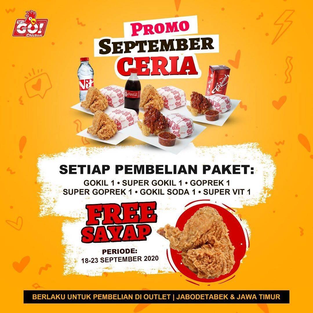 Diskon Let's Go Chicken Promo September Ceria