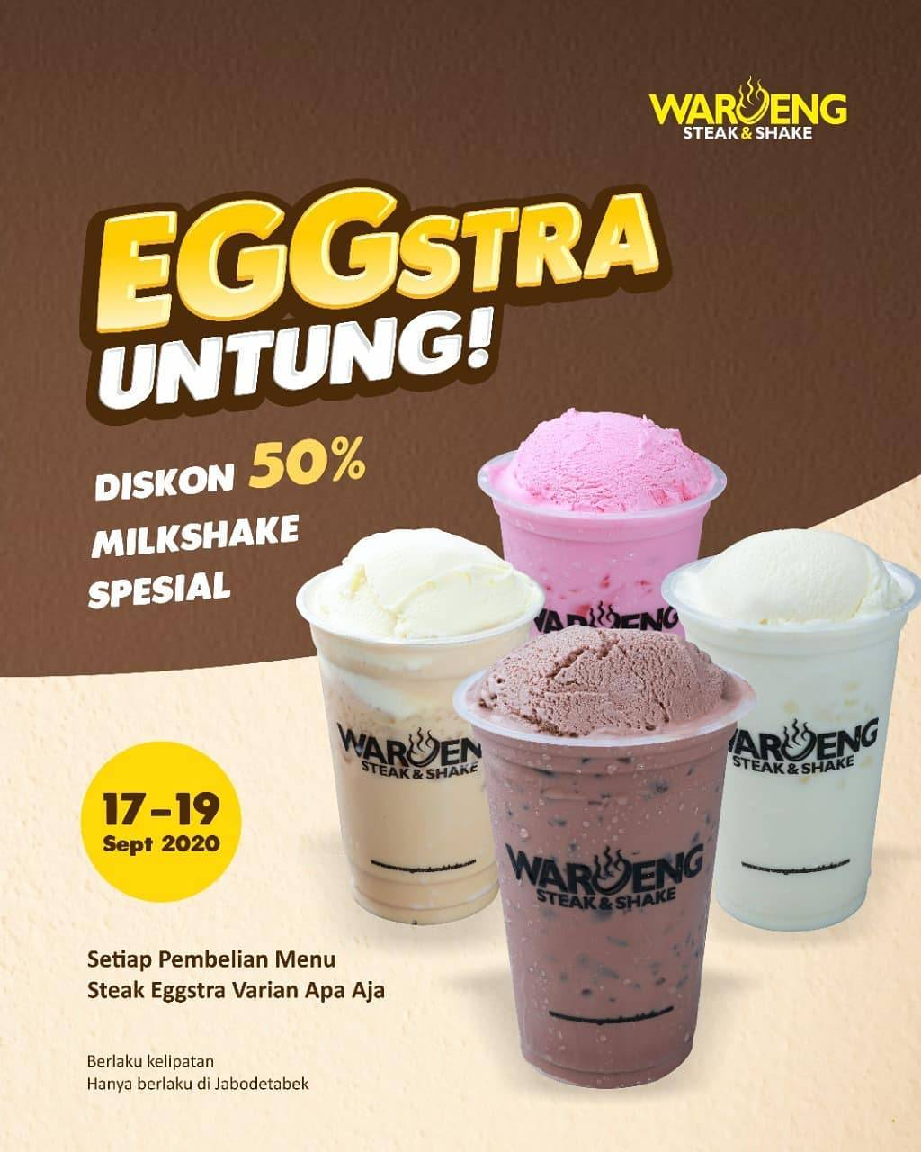 Diskon Waroeng Steak Promo Eggstra Untung Diskon 50%