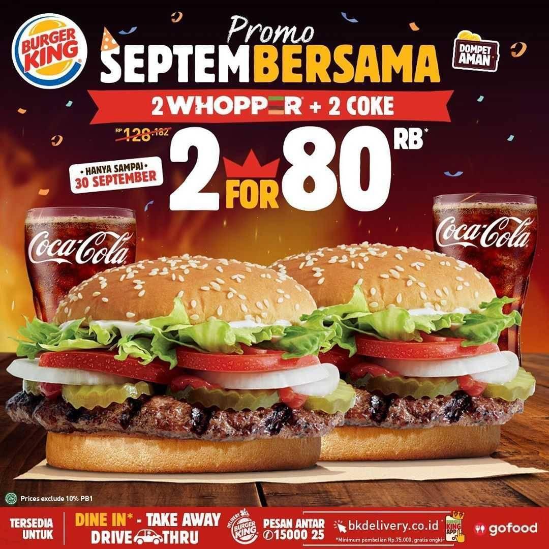 Promo diskon Burger King Promo September Bersama