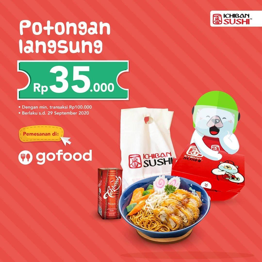 Diskon Ichiban Sushi Potongan Langsung Rp. 35.000 Di GoFood