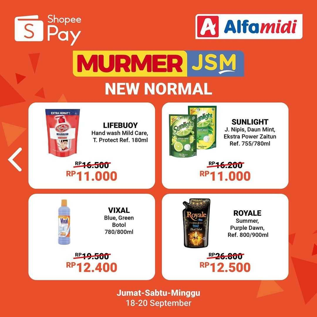 Promo diskon Shopeepay Promo Murmer JSM Di Alfamart
