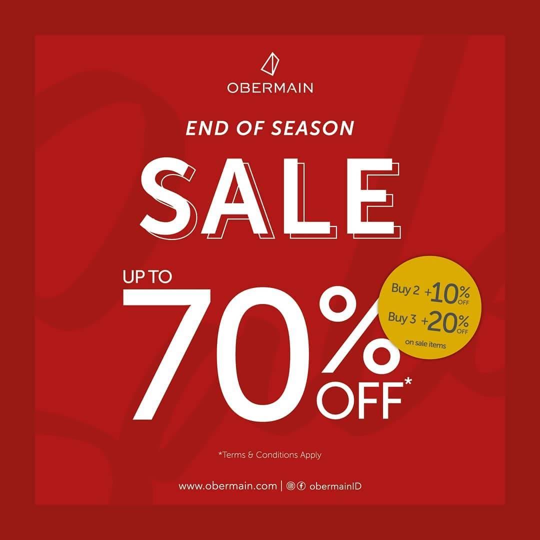 Diskon Obermain End Of Season Sale Up To 70% Off