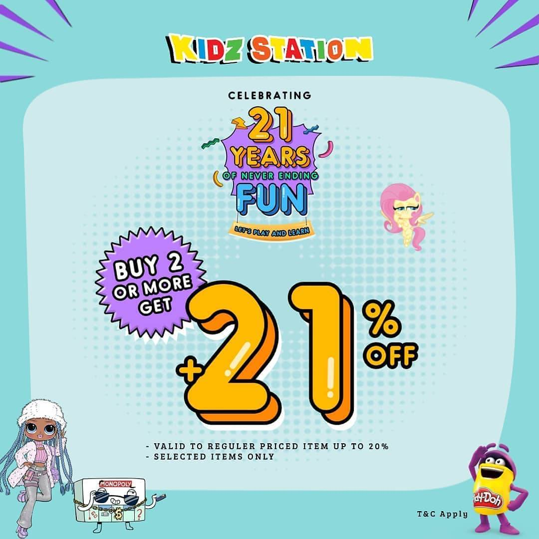 Diskon Kidz Station Buy 2 Or More Get Discount 21 % Off + Free Delivery