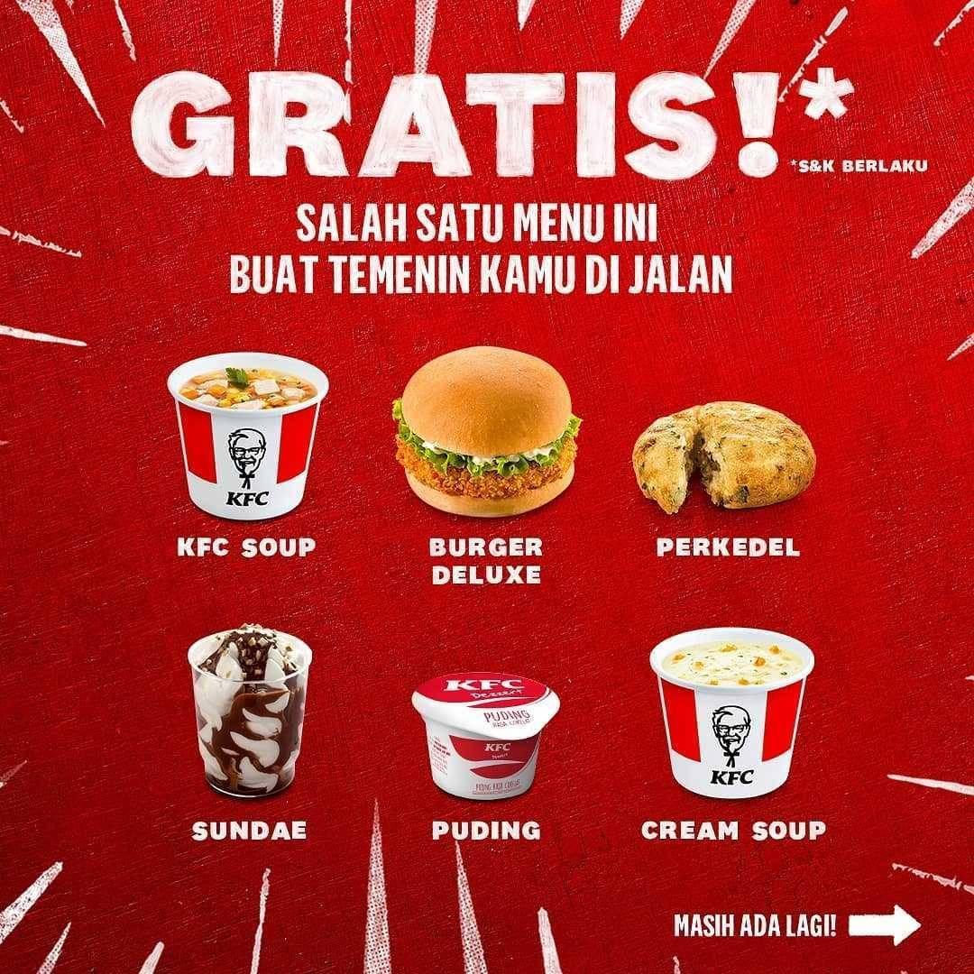 Promo diskon KFC Gratis Menu Pilihan Setiap Pembelian Bucket 9 Pcs Ayam