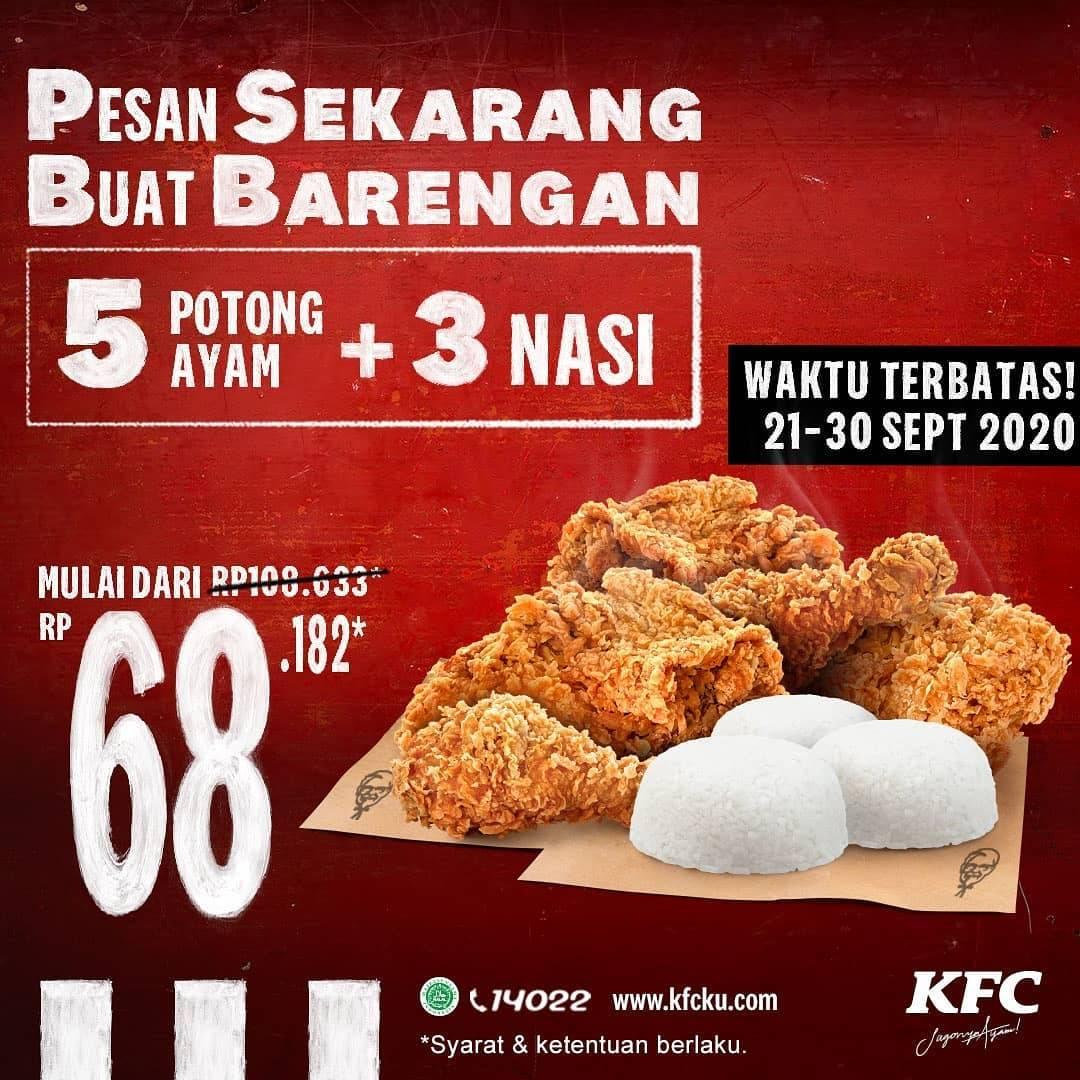 Diskon KFC Promo Pesan Sekarang Buat Barengan