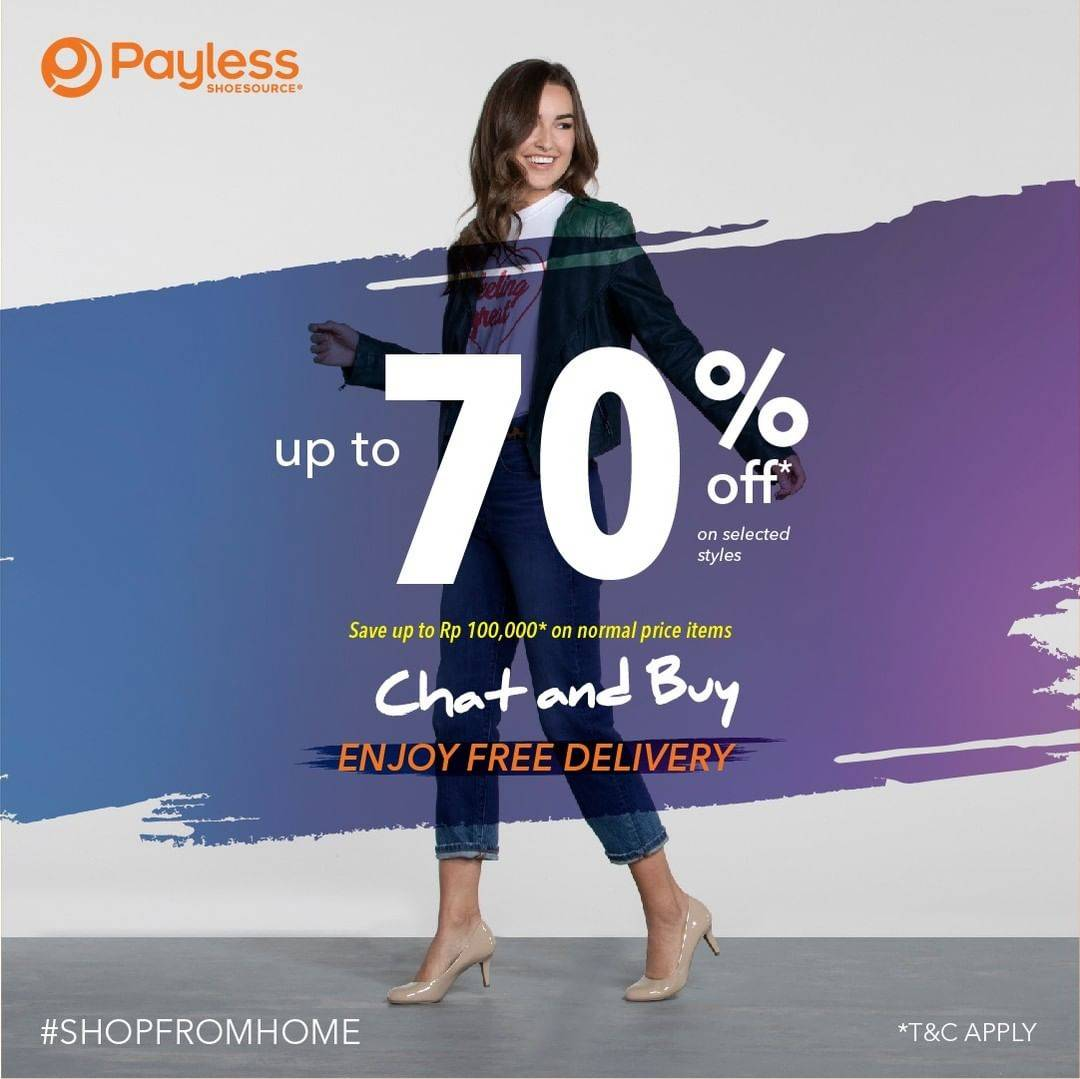 Diskon Payless Chat & Buy Discount Up To 70% Off On Selected Styles