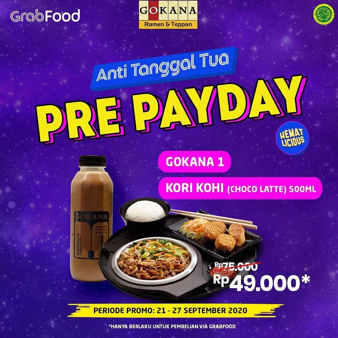 Diskon Gokana Promo Pre Payday Di GrabFood
