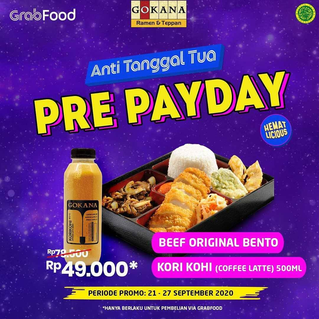 Promo diskon Gokana Promo Pre Payday Di GrabFood