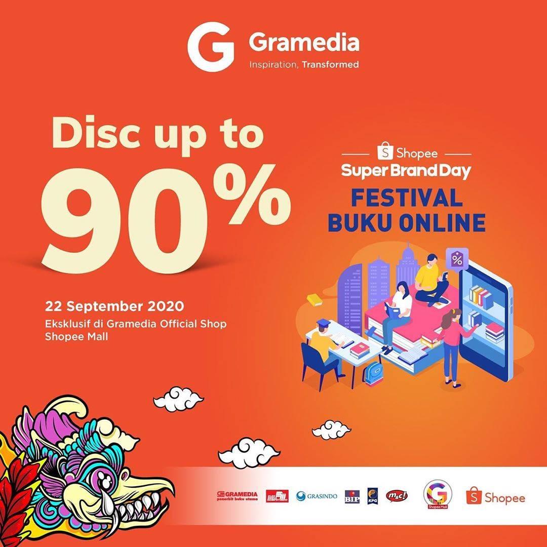 Diskon Gramedia Discount Up To 90% Off Di Shopee Brand Day
