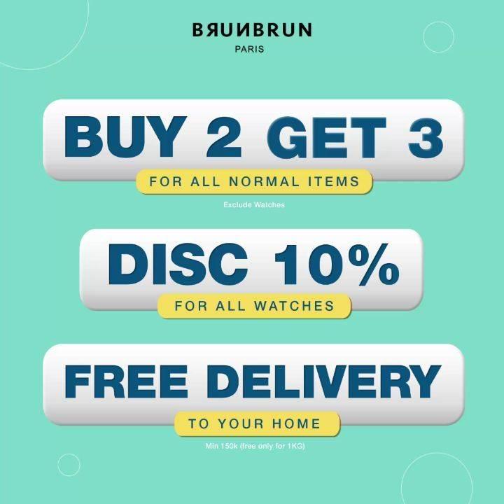 Diskon Brun Brun Buy 2 Get 3, Discount 10%, Free Delivery