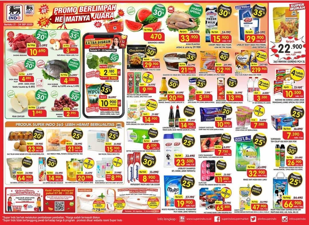 Diskon Katalog Promo Superindo Promo Koran Terbaru Periode 21 - 24 September 2020