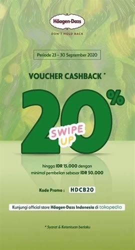 Diskon Haagen-Dazs Promo Tokopedia Cashback 20%
