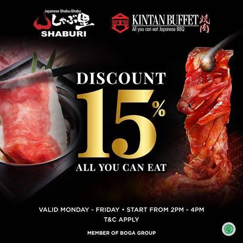 Diskon Shaburi Promo Discount 15% Off