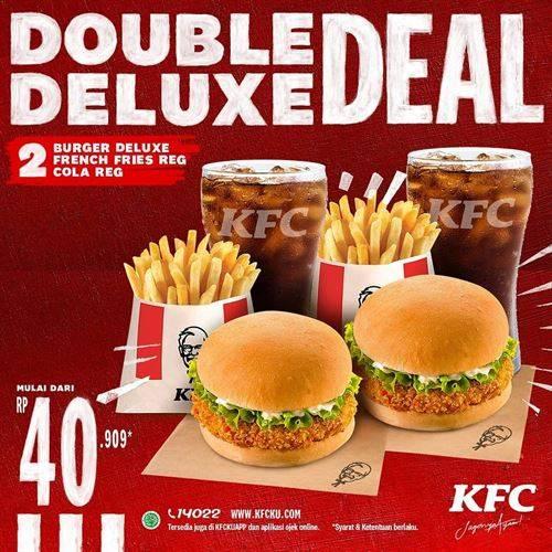 Diskon KFC Promo Double Deluxe Mulai Rp 40.000