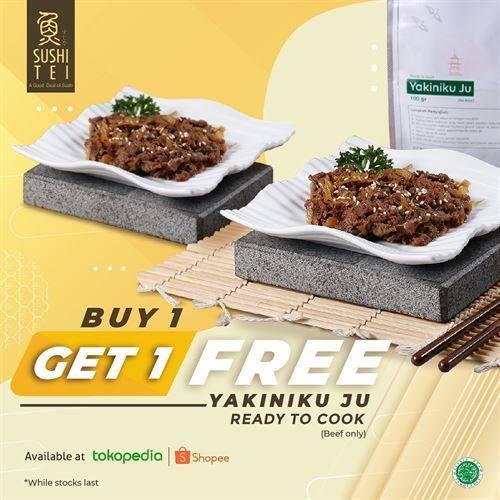 Diskon Sushi Tei Promo Buy 1 Get 1 Free Yakiniku Ju