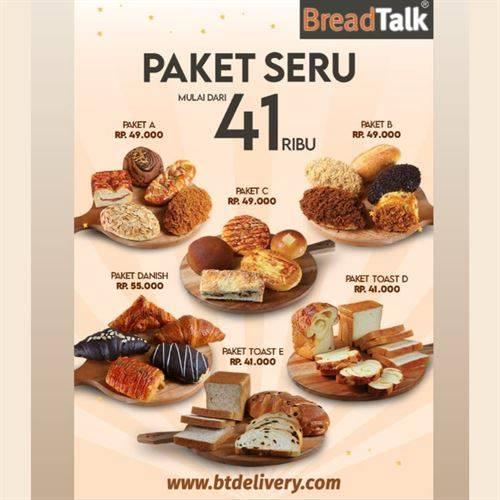 Diskon BreadTalk Promo Paket Seru Mulai Rp. 41.000