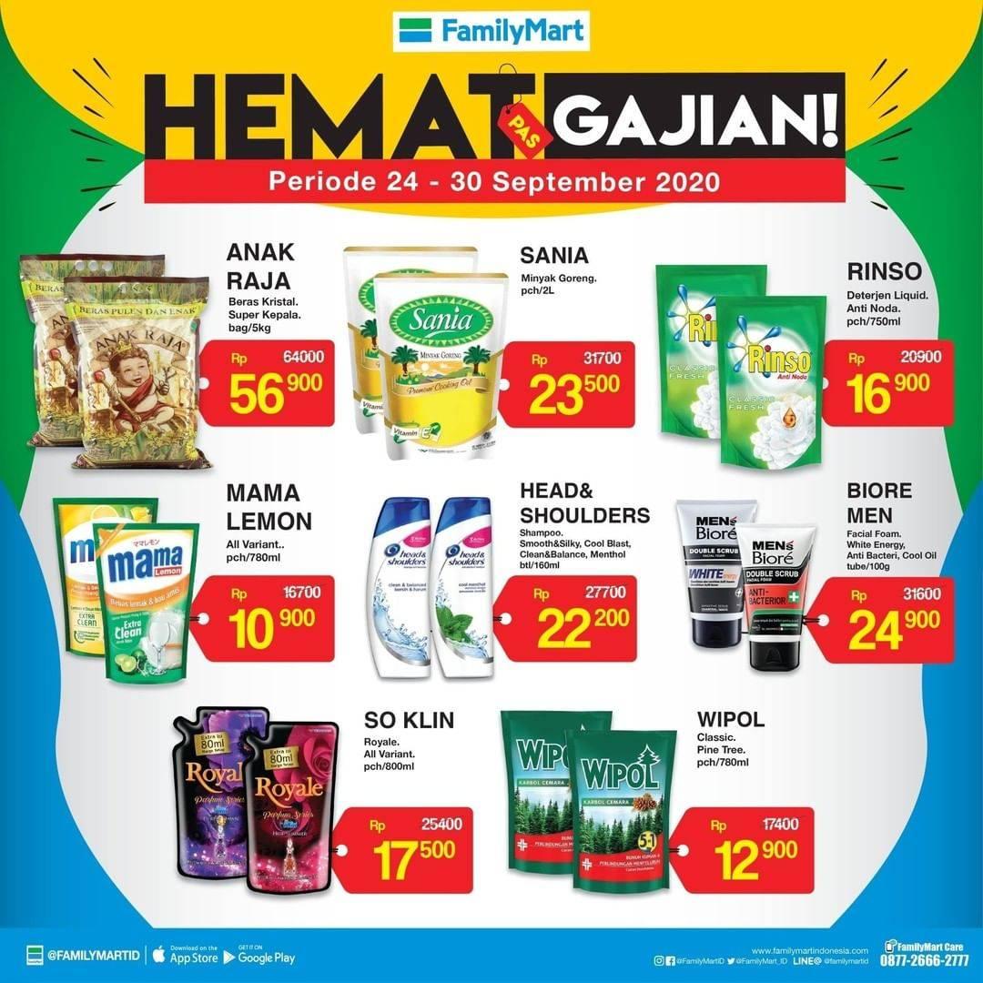 Diskon Katalog Promo FamilyMart Hemat Pas Gajian Periode 24 - 30 September 2020