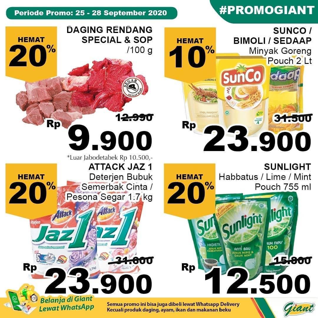 Diskon Katalog Promo Giant Hemat Terbaru Periode 25 - 28 September 2020