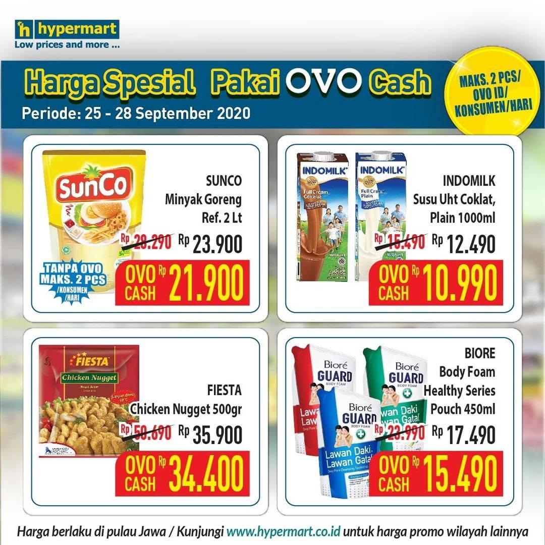 Diskon Katalog Promo Hypermart Pakai OVO Cash Periode 25 - 28 September 2020