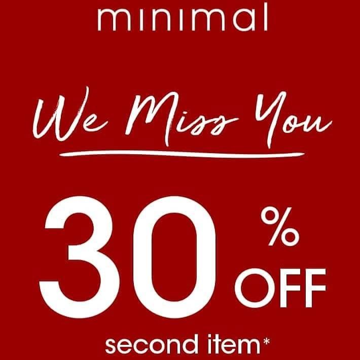 Diskon Minimal Discount 30% Off On 2nd Item
