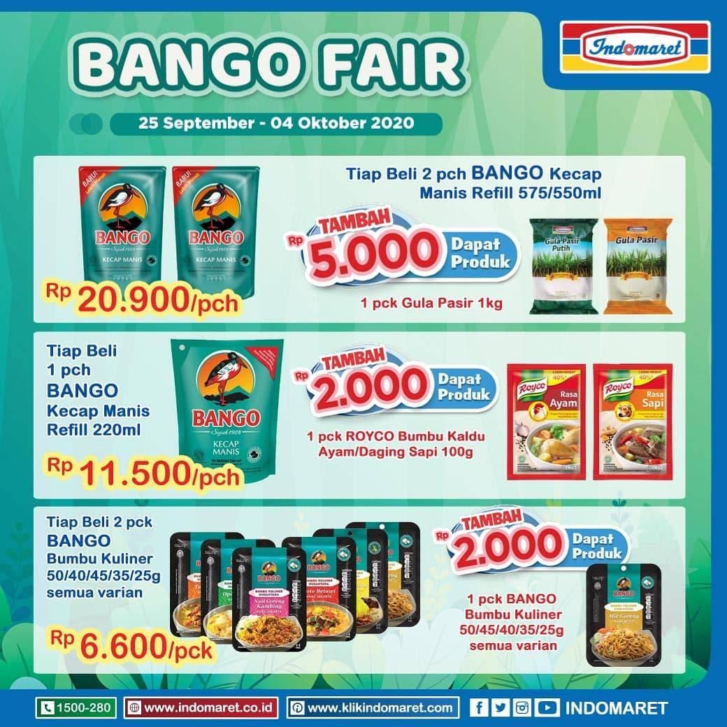 Diskon Promo Indomaret Bango Fair Periode 25 September - 4 Oktober 2020