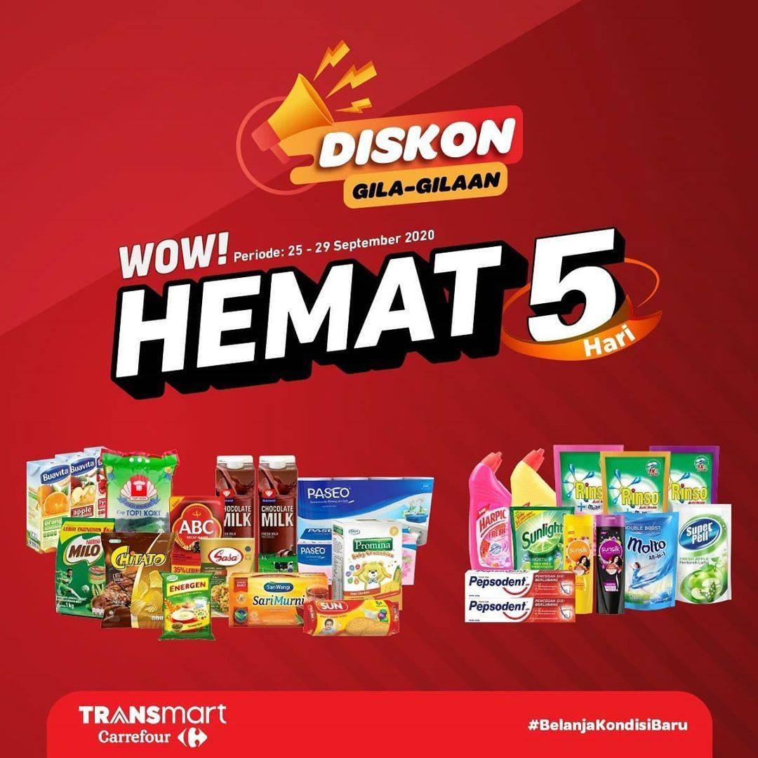 Diskon Katalog Promo Transmart Hemat 5 Hari Periode 25 - 29 September 2020
