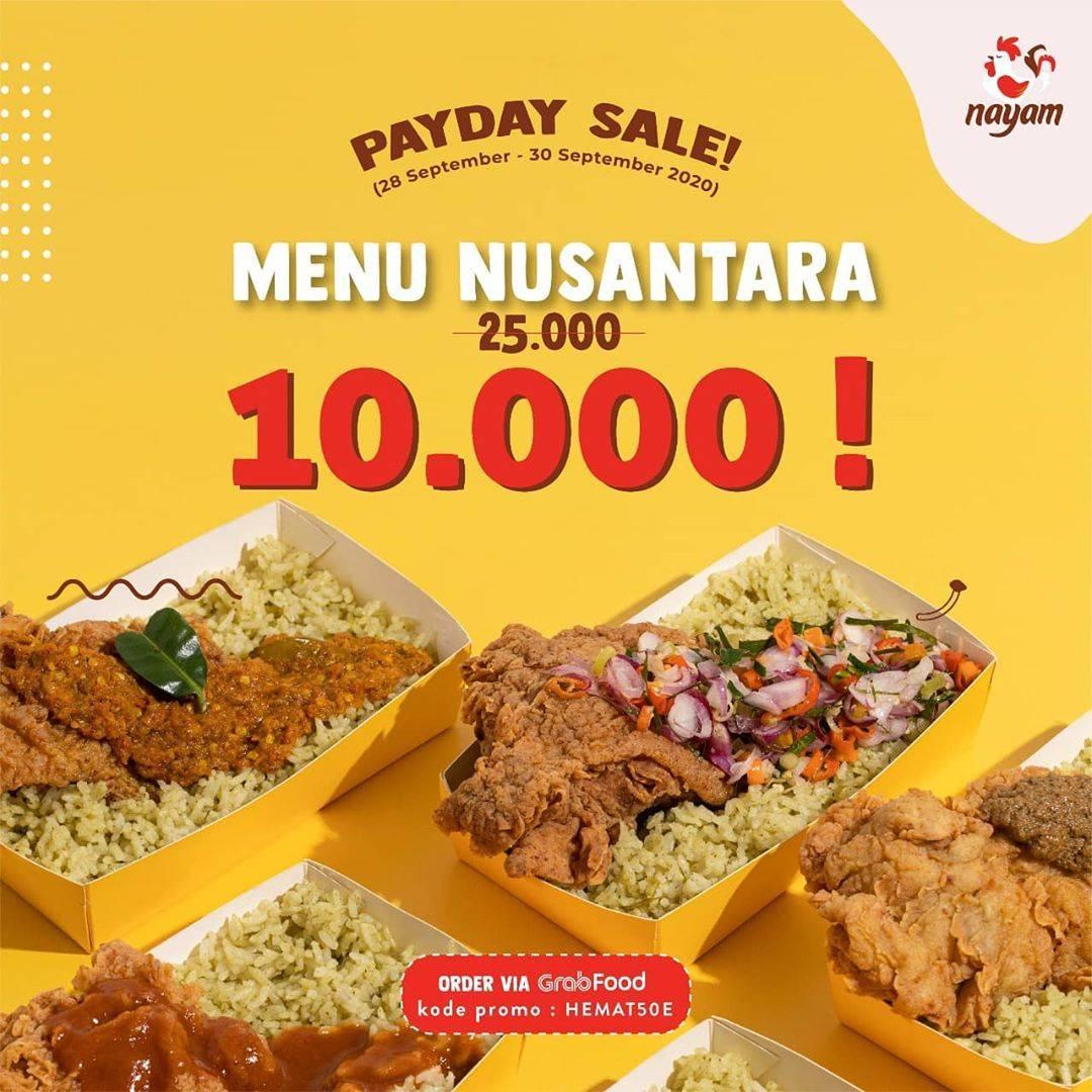 Diskon Nayam Crazy Payday Sale Menu Nusantara