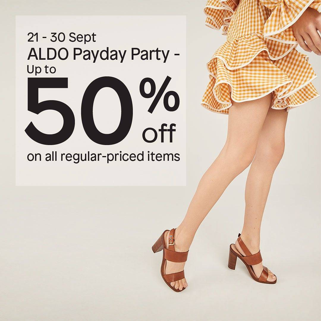 Diskon Aldo Payday Party Discount Up To 50% Off