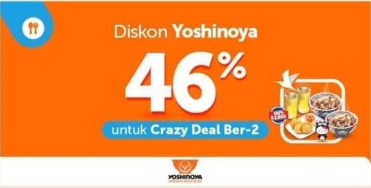Diskon Yoshinoya Promo Diskon 46%