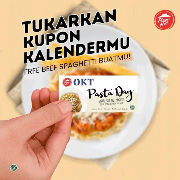 Diskon Pizza Hut Promo Kupon Kalender Gratis Beef Spaghetti