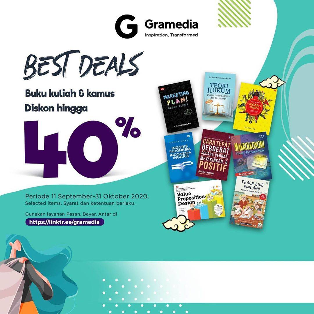 Diskon Gramedia Best Deals Discount Up To 40% Off Untuk Buku Kuliah & Kamus
