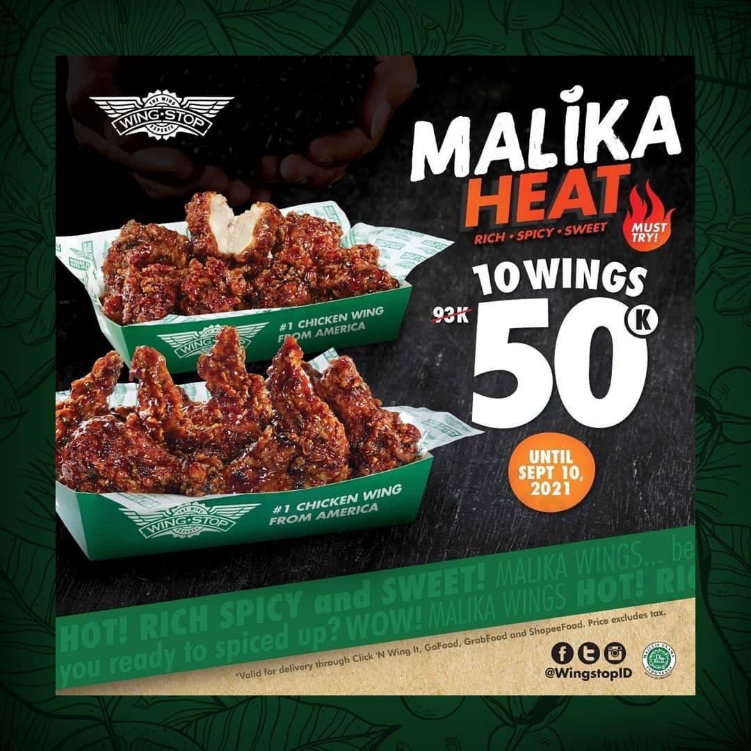 Diskon Wingstop Promo Malika Heat 10 Wings 50k