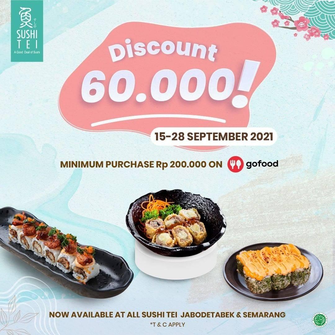 Diskon Sushi Tei Promo GoFood Diskon 60k