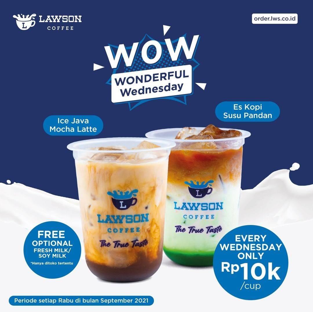 Diskon Lawson Promo Wonderful Wednesday Rp 10K/Cup