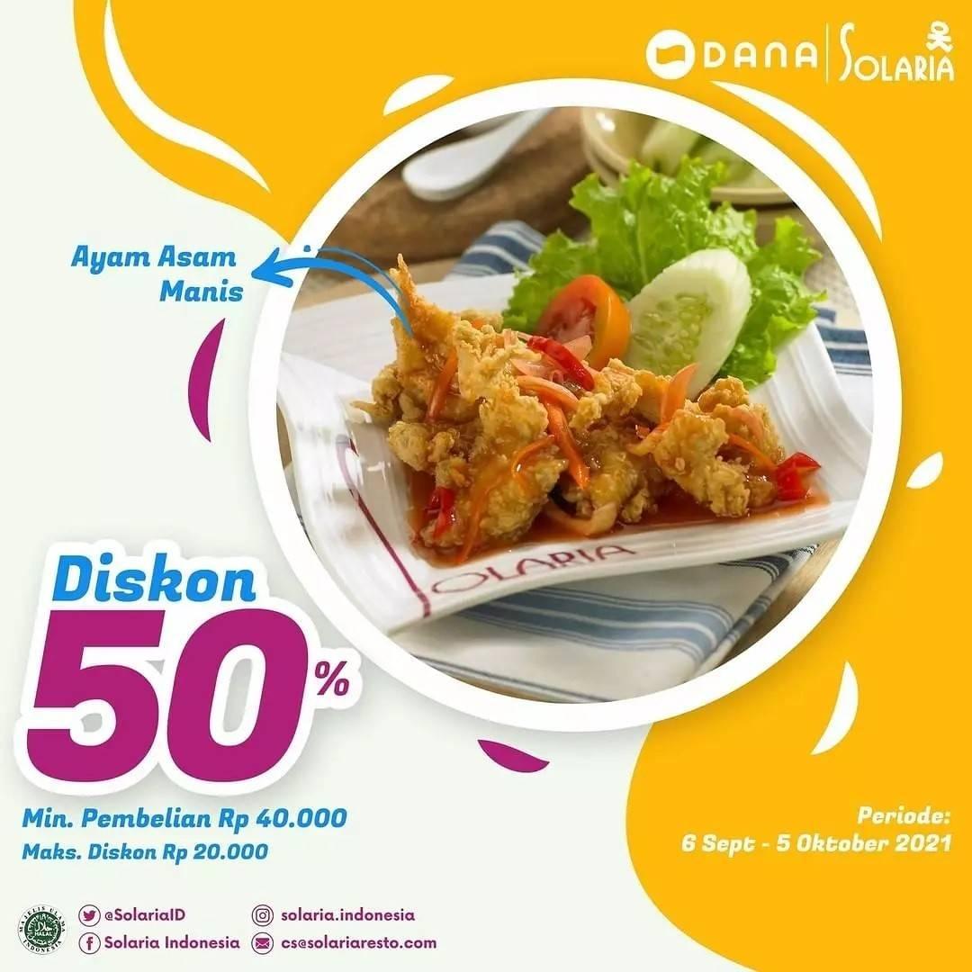 Diskon Solaria Promo Diskon 50% Dana
