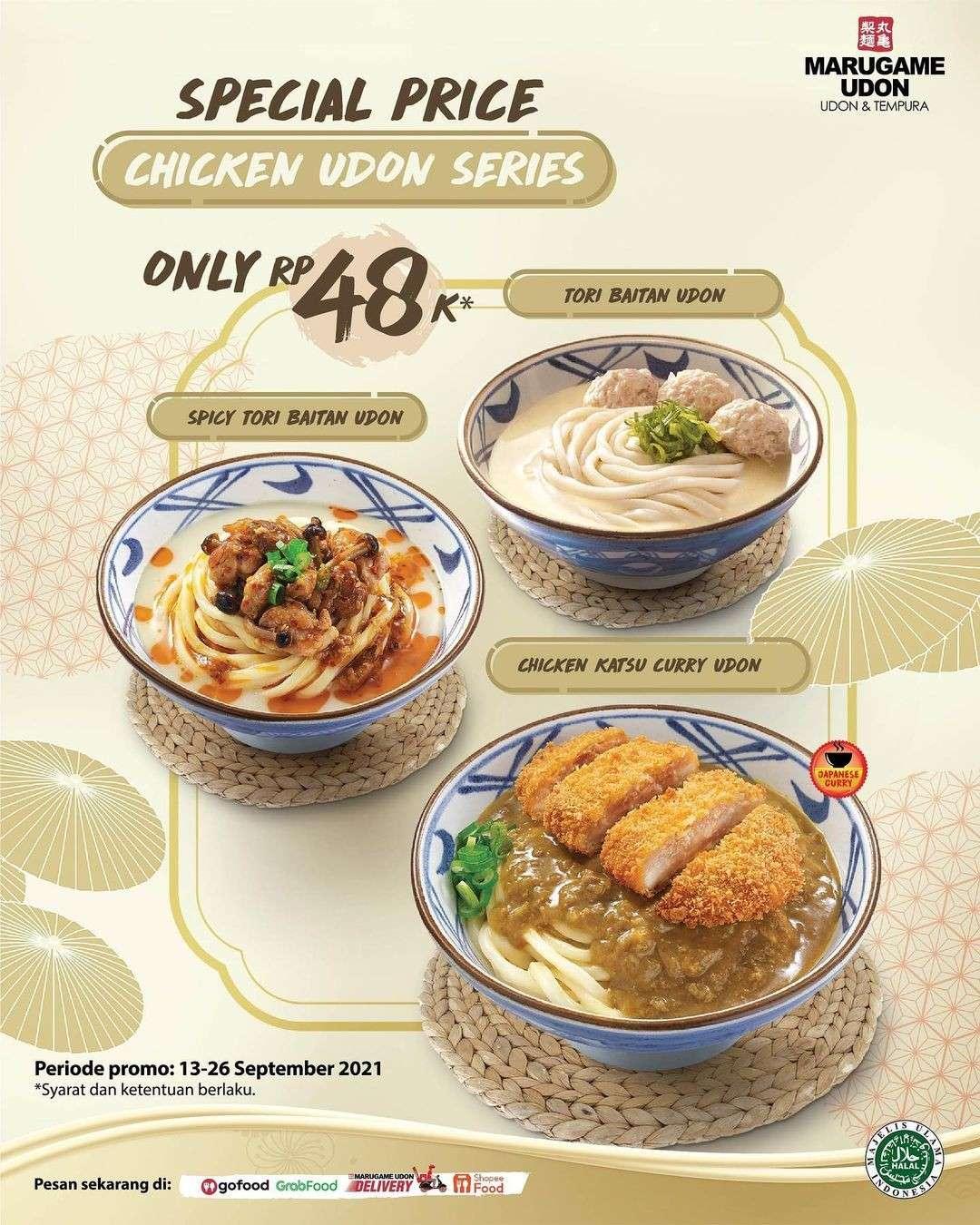 Diskon Marugame Udon Promo Special Udon Series Rp 48K