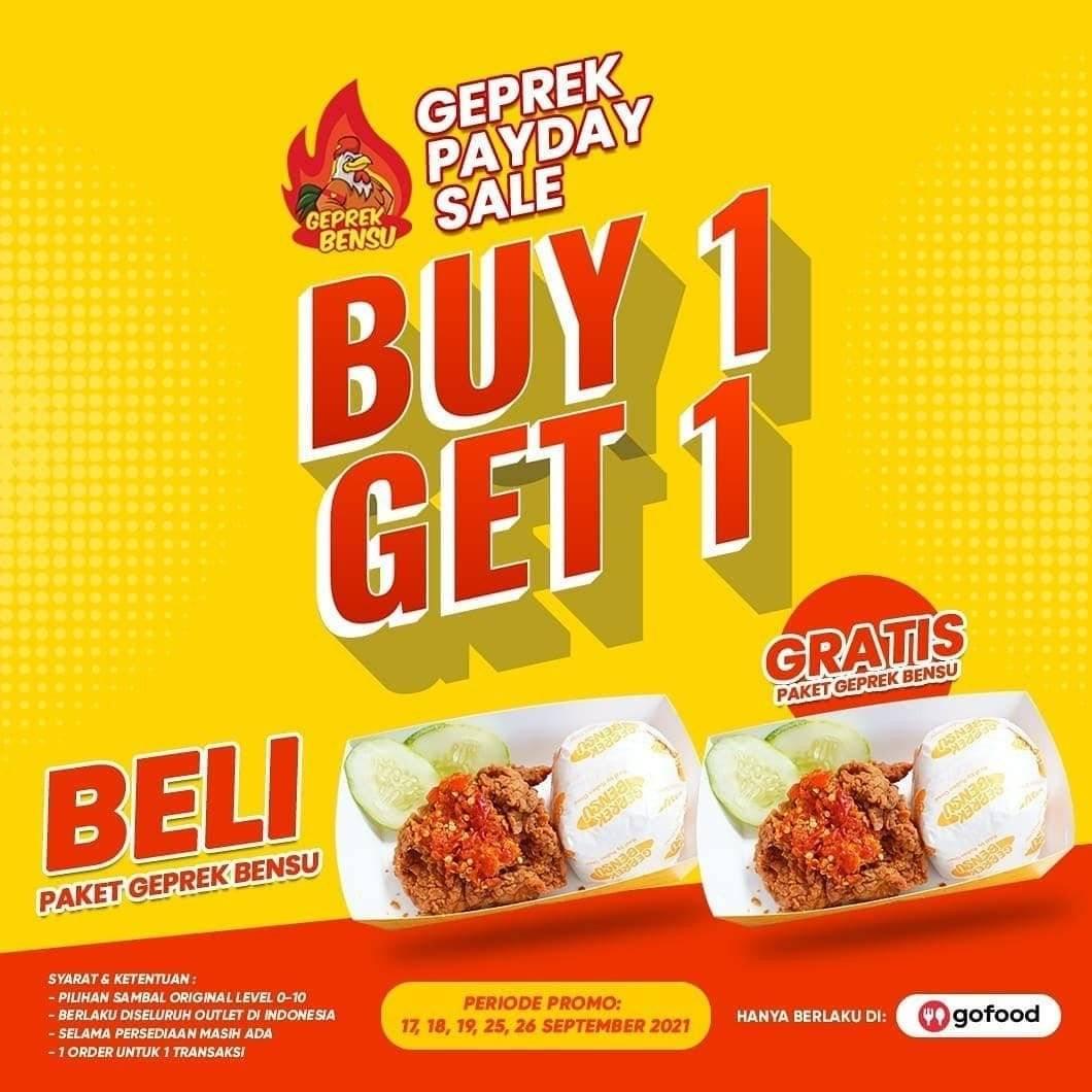 Diskon Geprek Bensu Promo Payday Sale Buy 1 Get 1 Free