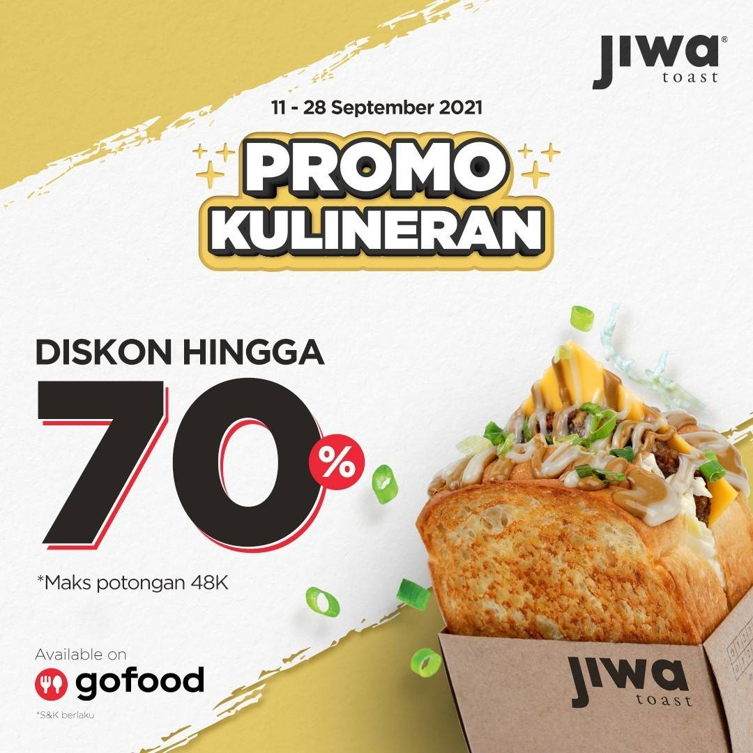 Diskon Jiwa Toast Promo GoFood Diskon s/d 70%