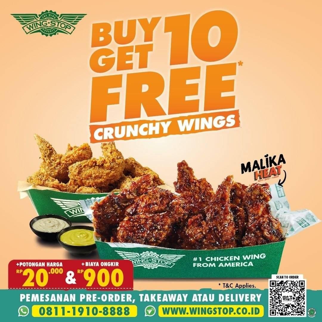 Diskon Wingstop Promo Beli 10 Gratis 10 Crunchy Wings