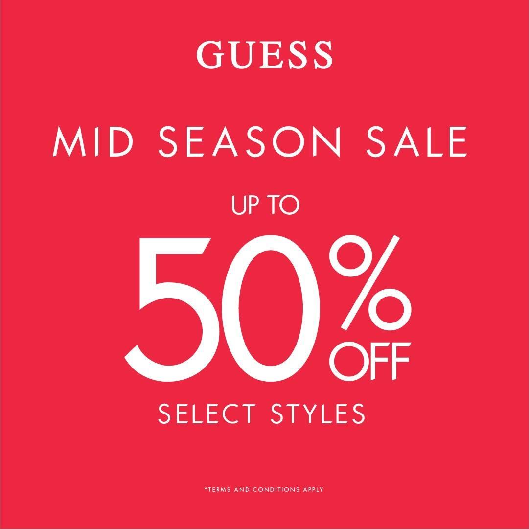 Diskon GUESS Promo Mid Season Sale Diskon s/d 50%