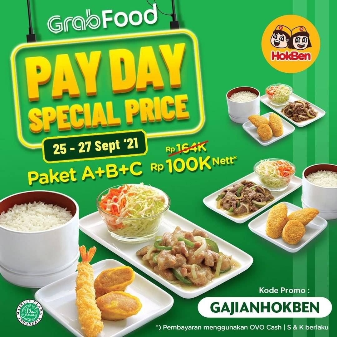 Diskon Hokben Promo Payday Special Price Paket A+B+C Hanya Rp 100K Nett