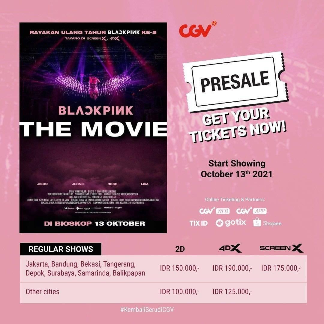 Diskon CGV Promo Presale Blackpink The Movie Mulai Dari Rp 100K