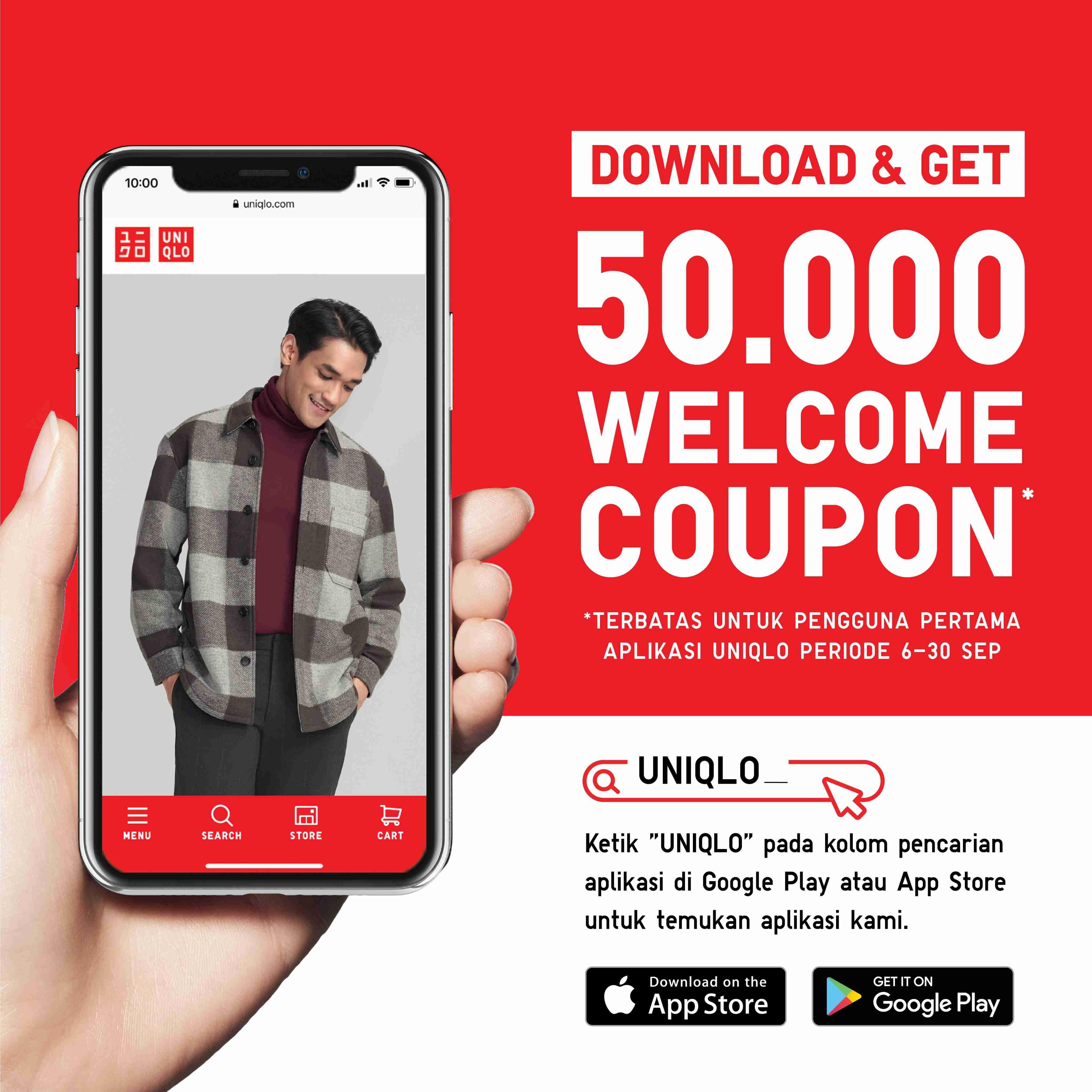 Diskon Uniqlo Promo Voucher Rp 50.000 di Uniqlo App