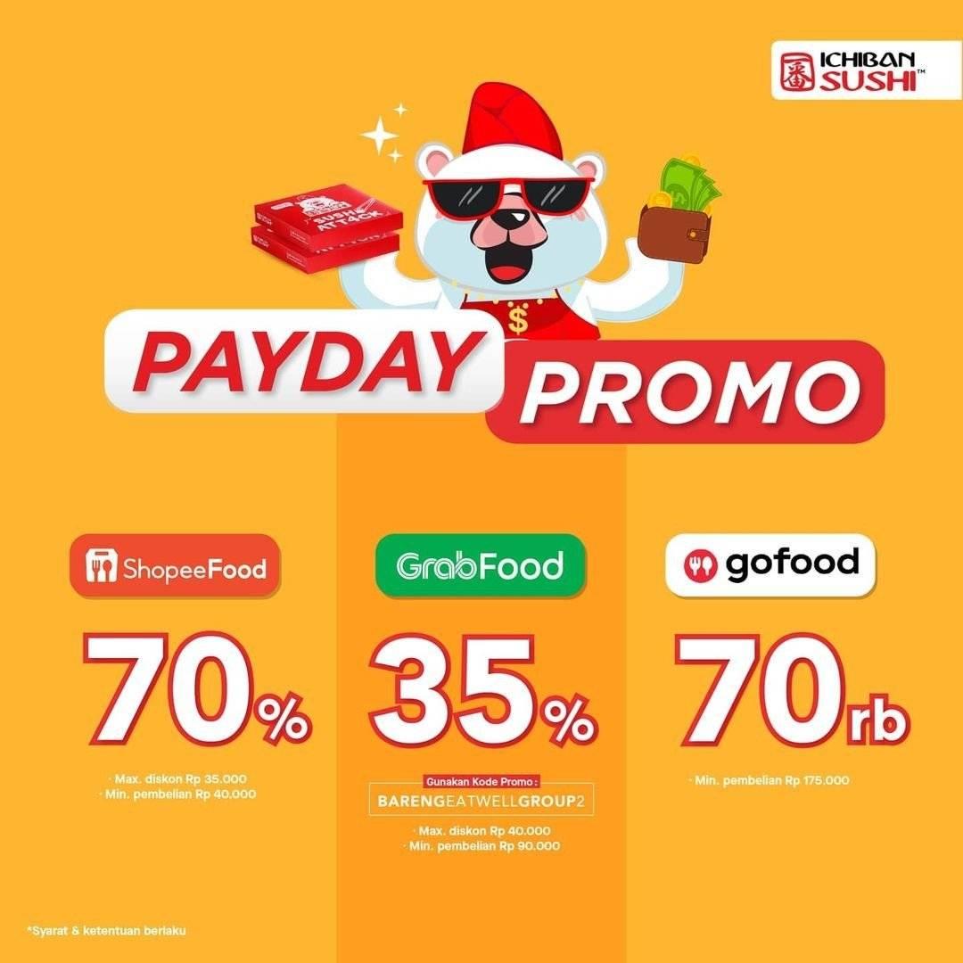 Diskon Ichiban Sushi Promo Payday Diskon s/d 70%